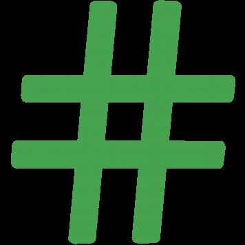 Grünes Hashtag-Symbol