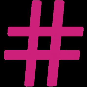 Pinkes Hashtag-Symbol