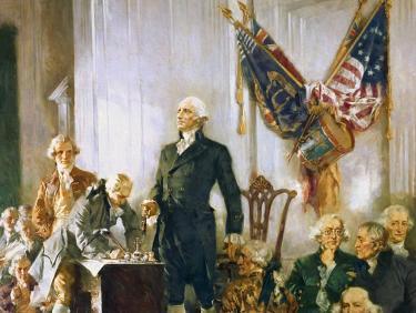 Unterschreibung Verfassung der USA