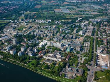 Aerial view Im Neuenheimer Feld - South
