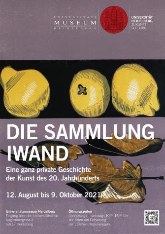 Plakat zur Ausstellung Die Sammlung Iwand